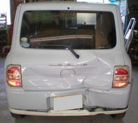 ラパン修理塗装 (1)